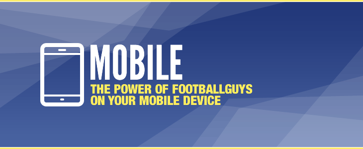 The power of FootballGuys on your mobile device