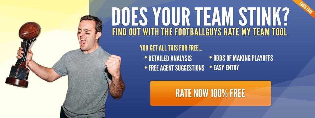 Footballguys Rate My Team